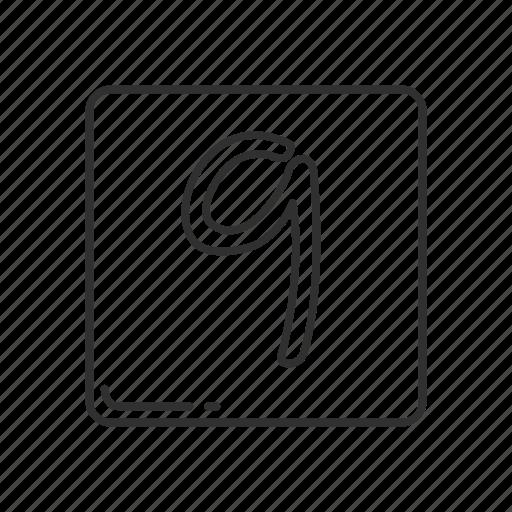 emoji, keycap nine, nine, number, number 9, number nine, number sign icon