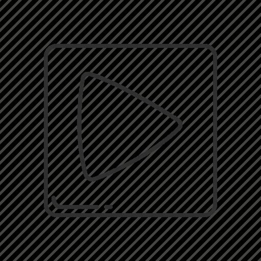 arrow, arrow right, emoji, right, squared triangle, triangle, triangle pointing right icon