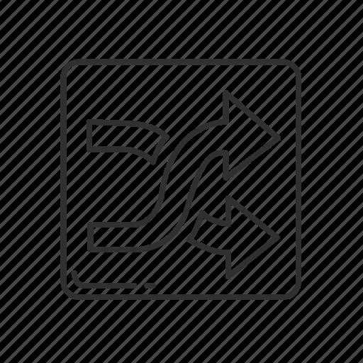 arrows, cross, direction, emoji, shuffle, shuffle button, shuffle symbol icon