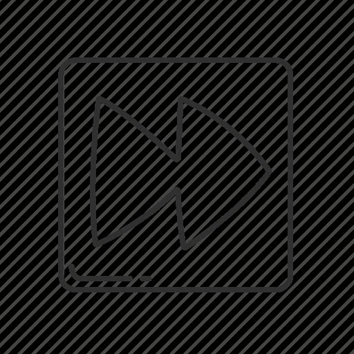 arrow, arrow pointing right, double triangle, emoji, fast forward, forward, squared triangle icon