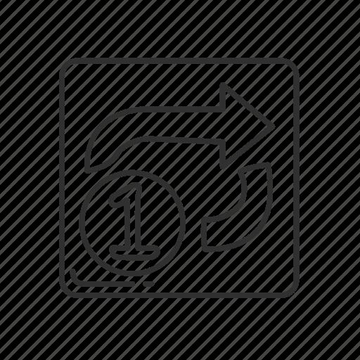 arrows, circled one overlay, clockwise, emoji, leftwards, one, rightwards icon