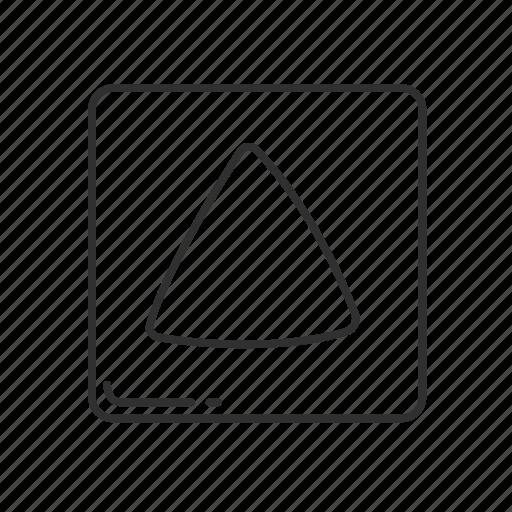 arrow, arrow up, emoji, squared triangle, triangle, triangle going up, up icon