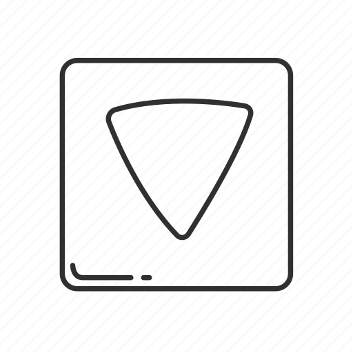 arrow, arrow down, arrow pointing down, down, emoji, pointing down, squared arrow icon