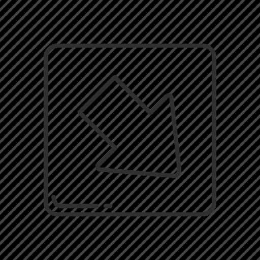 arrow, arrow pointing south east, emoji, south east, south east arrow, south east button, south east symbol icon
