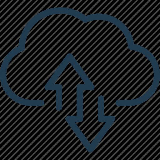 Arrow, cloud, storage, sync, synchronization icon - Download on Iconfinder