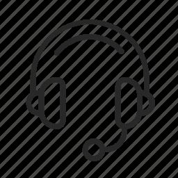communication, employee, headphones, microphone, support icon