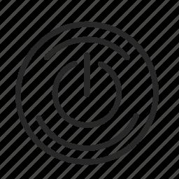 power, run, turn off, turn on icon