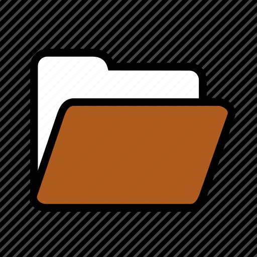 empty, folder, open icon