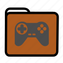 folder, games, joypad, joystick icon