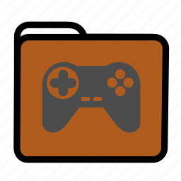 folder, games, joypad, joystick icon