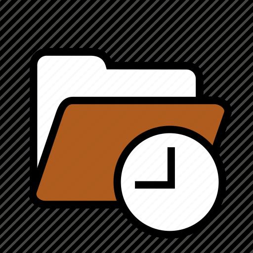 folder, history icon