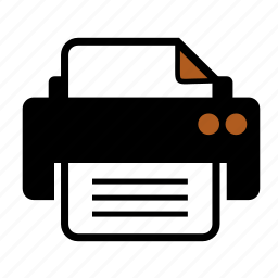 document, print, printer icon