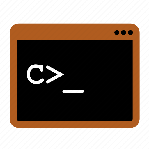 command, console, shell, terminal icon