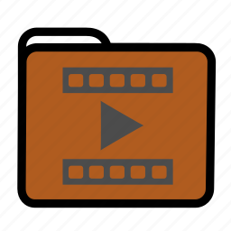 folder, movie, multimedia, video icon