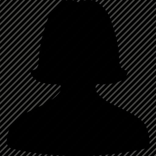 account, avatar, contact, female, portrait, profile, users icon