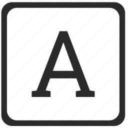 a, keyboard, latin, letter, uppercase icon