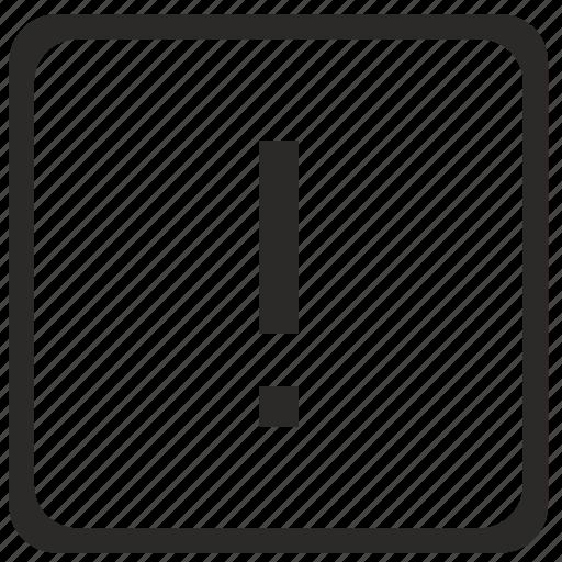 element, error, exclamation, keyboard, latin, mark, warning icon
