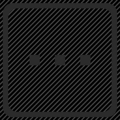 additional, horizontal, menu, navigation, ui icon