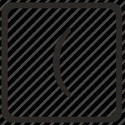 bracket, keyboard, latin, left, math icon