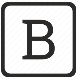 b, keyboard, latin, letter, uppercase icon