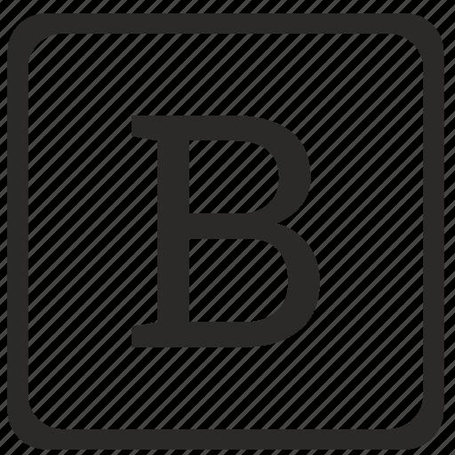 b, keyboard, latin, letter, uppercase icon