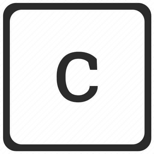 c, keyboard, latin, letter, lowcase icon