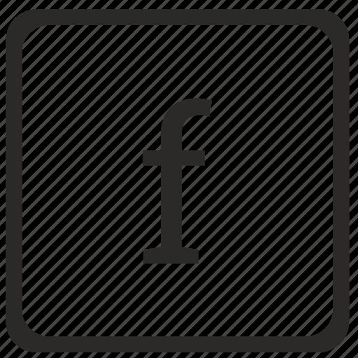 f, keyboard, latin, letter, lowcase icon