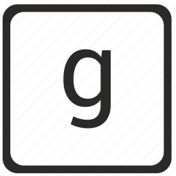 element, g, keyboard, latin, letter, lowcase icon