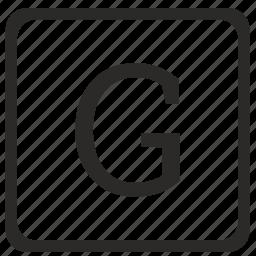g, keyboard, latin, letter, uppercase icon