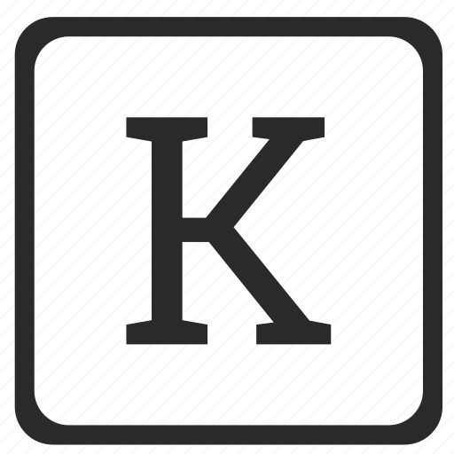 k, keyboard, latin, letter, uppercase icon