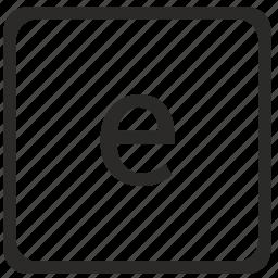 e, keyboard, latin, letter, lowcase icon