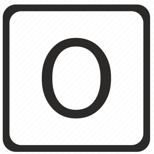 keyboard, latin, letter, o, uppercase icon