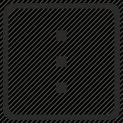 dots, menu, navigation, quantity, ui, vertical icon