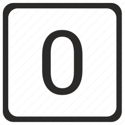 count, keyboard, quantity, zero icon