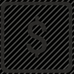 dollar, exchange, keyboard, latin, money, usd, value icon