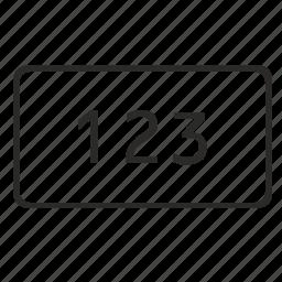 enter, keyboard, keypad, number, pin icon