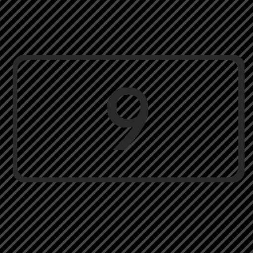 code, keyboard, keypad, nine, number, pin icon