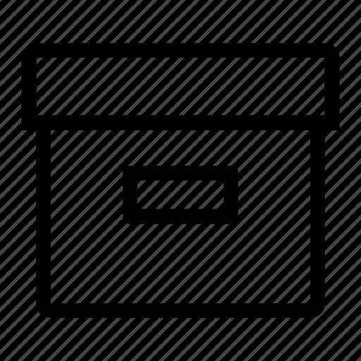 archive, box, data, documents, file, folder, paper icon