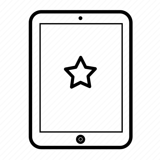 android tablet, computer tablet, favorite, favourite, ipad, tablet, tablet display icon