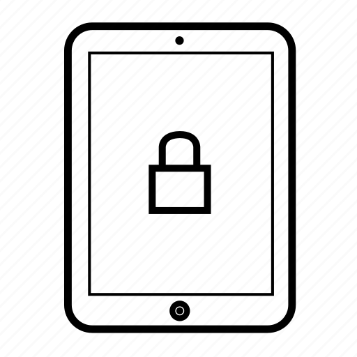 android tablet, computer tablet, ipad, locked, secure, tablet, tablet display icon