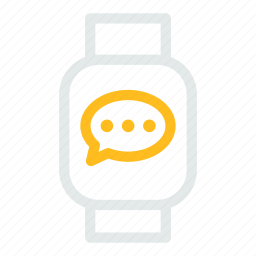 device, mobile, smart, watchbubblechat icon