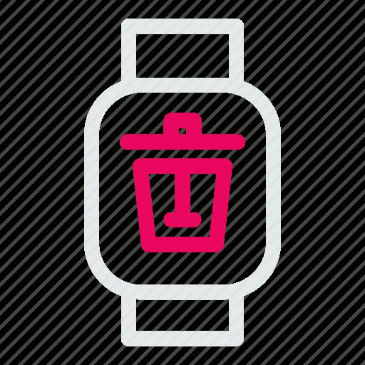 delete, device, electronic, mobile, remove, technology, trash icon
