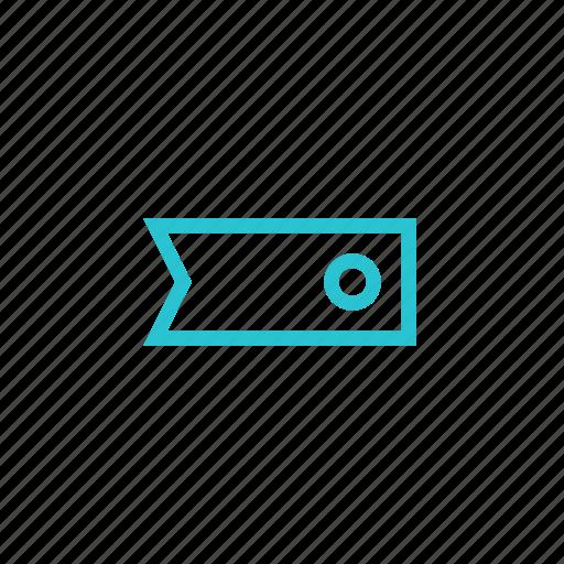 bookmark, label, tag, tape icon