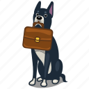 suitcase, hound, formal, dog, business, office icon