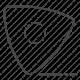 chalk, garment, marker, tailor icon