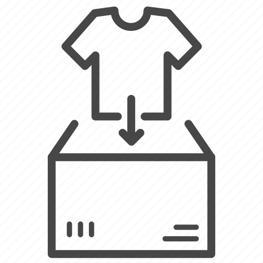 clothes, garment, pack, packing, product, tailor icon