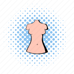 clothes, comics, dummy, elegance, fashion, female, shopping icon