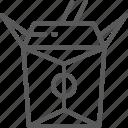 bamboo, box, chinese, chopsticks, food, takeaway, takeout