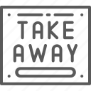 banner, board, breakfast, information, poster, take, takeaway