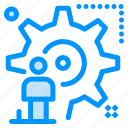 configuration, man, setting, update, user icon